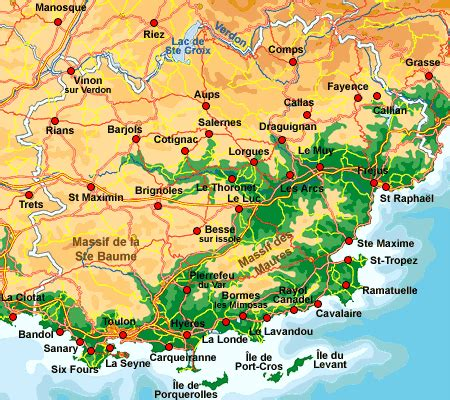 map of var provence provence web