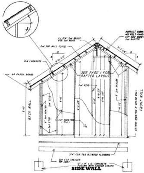 learn free 8x10 saltbox shed plans goehs