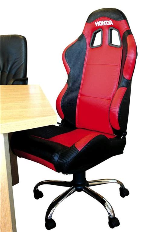 chaise pilote quot honda quot style si 232 ge baquet mobilier equipement stand paddock accessbk
