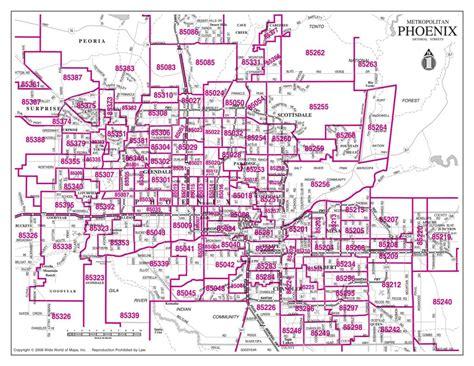 Casa Decor Tempe by Zip Code Map Phoenix Az Area