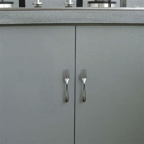 new satin nickel fork cabinet door drawer diy pull