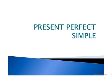 Present Perfect Simple Presentation Worksheet  Free Esl Projectable Worksheets Made By Teachers