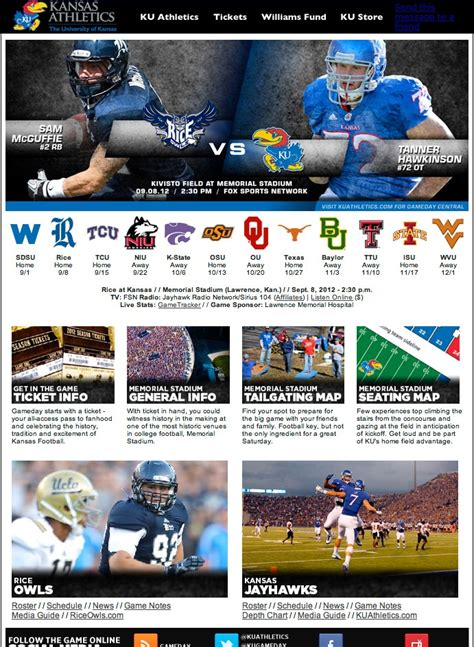 Ticket Template Gameday by University Of Kansas Gameday Info College Athletics