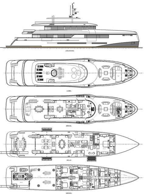 expedition yacht deck plan yacht deck plans printable
