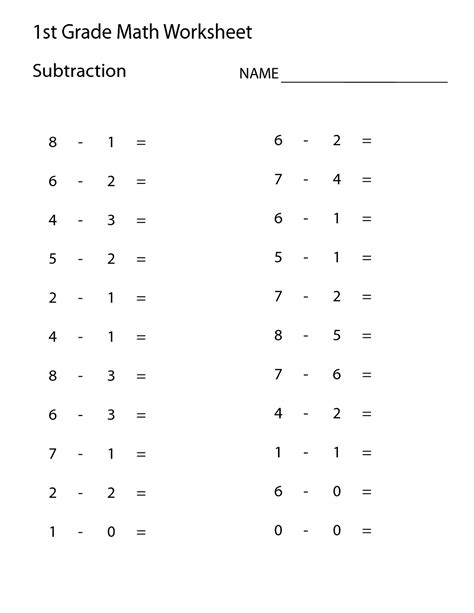 """Search Results For """"addition And Subtraction Worksheet 1st Grade""""  Calendar 2015"""