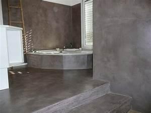 Beton Cire Verarbeitung : r alisations b ton cir ib ton ~ Markanthonyermac.com Haus und Dekorationen
