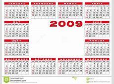 Kalender 2009 vector illustratie Illustratie bestaande