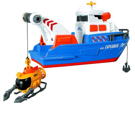 Explorer Toy Boat by Dickie Toys 203308361 Action Series Explorer Boat
