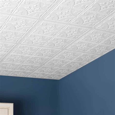 Drop Ceiling Tiles 2x2 White by Genesis Ceiling Tile 2x2 Antique Tile In White