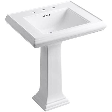 kohler memoirs classic ceramic pedestal bathroom sink in