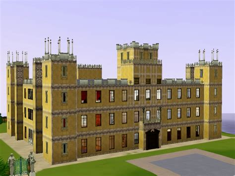 simiansims downton highclere castle