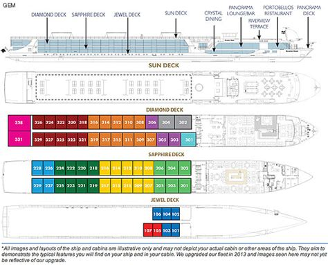 scenic cruises scenic gem deck plan
