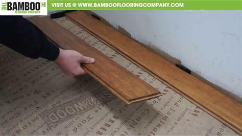 how to install uniclic bamboo flooring underlay