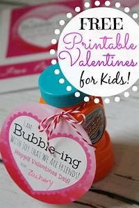 "Free Kids Printable Valentines Using Bubbles! ""I'm Bubble ..."