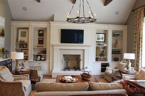 fireplace built ins living room traditional with ceiling lighting baseboards