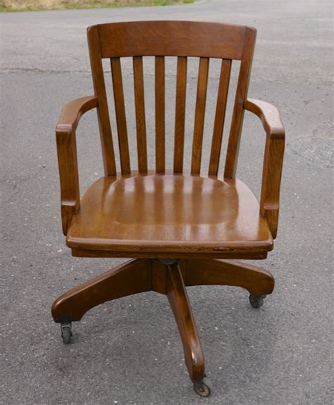 vintage antique gunlocke tiger oak slat back mission