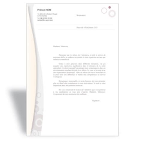 exemple de lettre de motivation originale au format word