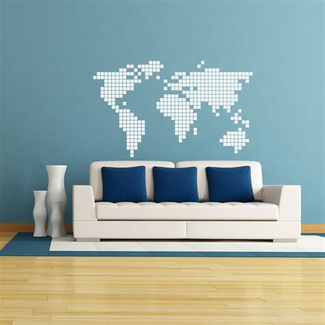 sticker carte du monde en 2d stickers villes et voyages pays et voyages ambiance sticker