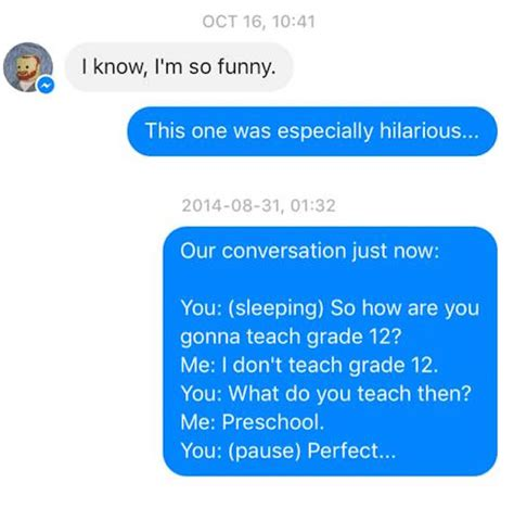 Sleep Texting by Wife Texts Husband All The Bizarre Things He Says In His