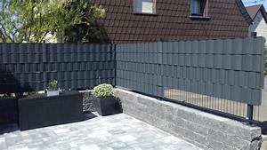 Sichtschutz Für Stabmattenzaun : sichtschutzstreifen 35 50m x 19cm f r stabmattenz une ~ Markanthonyermac.com Haus und Dekorationen