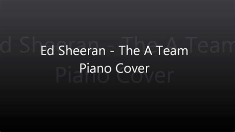 Sinking Piano Cover by Ed Sheeran The A Team Piano Cover