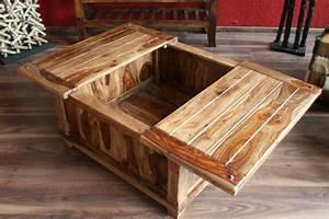 Couchtisch Truhe Holz : couchtisch holz wohnzimmertisch 85x85x40 sheesham massiv truhe tisch designer ebay ~ Markanthonyermac.com Haus und Dekorationen