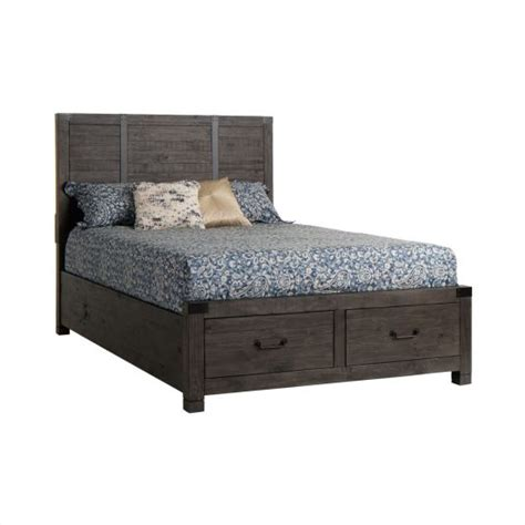 abington canopy bedroom collection cal king storage bed in weathered charcoal