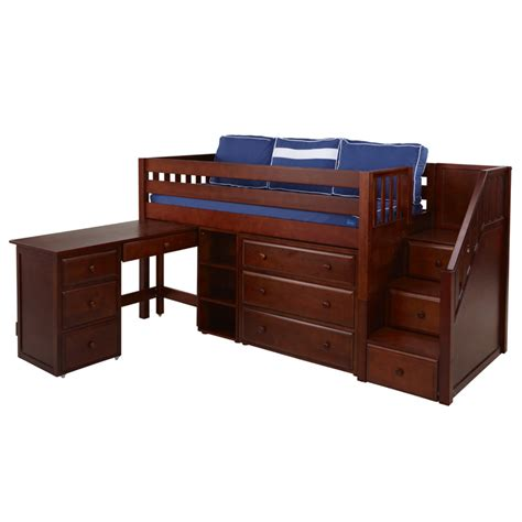 Low Loft Bed With Desk And Dresser by Great Low Loft Bed With Dresser Bookcase Desk And Staircase