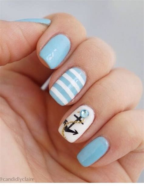 Boat Anchor Nail Art by Best 25 Sea Nails Ideas On Pinterest Sailor Nails