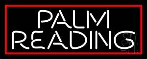 White Palm Reading Red Border Neon Sign | Psychic Neon ...