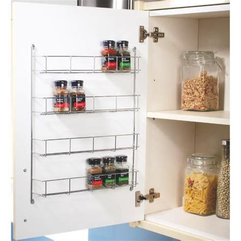 Kitchen Cabinets Organizers Uk by Swivel Store Cabinet Organiser 4 Tier Wall Spice Rack