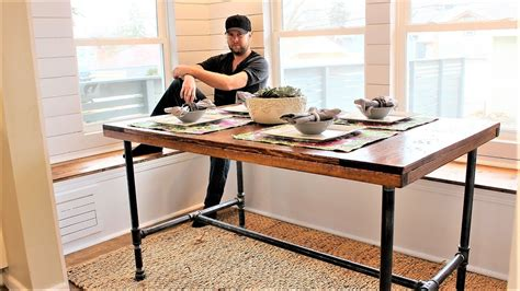 The Industrial Farm Table  Easy Diy Project Youtube