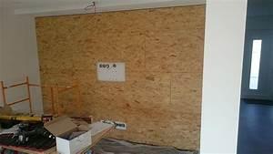 Osb Platten Verkleiden : multimedia wohnzimmer mit naturstein verblender selber bauen ~ Markanthonyermac.com Haus und Dekorationen