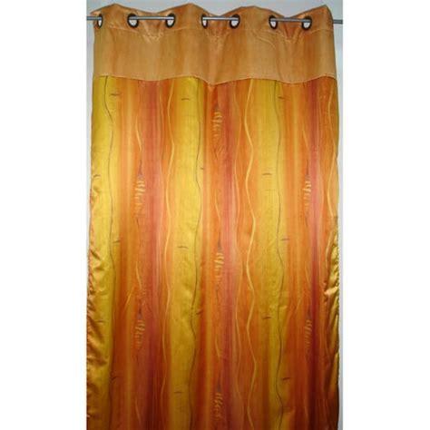 rideau quot nausicaa quot coloris jaune et orange tous les produits les rideaux et voilages prixing