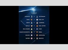 UEFA Champions League Draw 201718 Fixtures, Dates,Places
