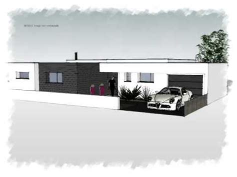 arteco 291 maison plain piec contemporaine toit plat
