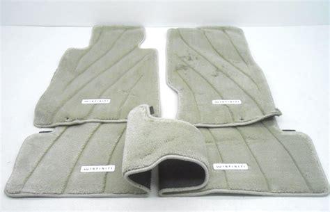 new oem infiniti g37 g25 sedan gray 4 floor mat set of 4 stained blemish alpha automotive