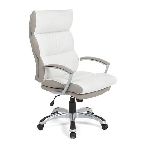 fauteuil de bureau 224 roulettes en polyur 233 thane blanc et taupe bureau d 233 coration