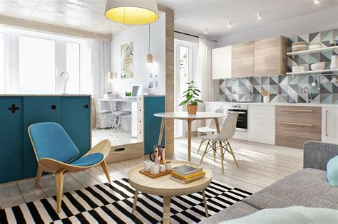 2 simple beautiful studio apartment concepts for a includes floor plans