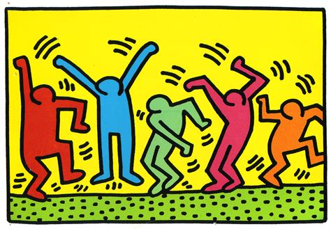 keith haring mural collections high resolution pictures