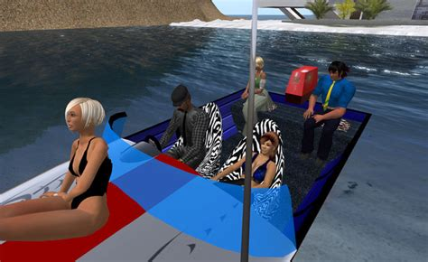 Red Fishing Boat Seats by Second Life Marketplace Fishing Boat Seats 5 Red Blue Silver
