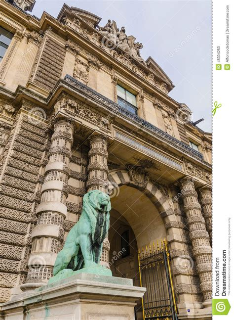 gate of lions louvre stock image image of chateau 48304253