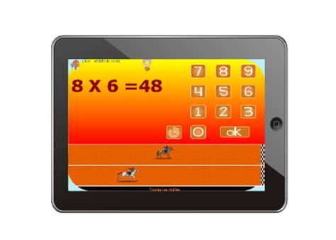 tables de multiplications jeux pour tablette