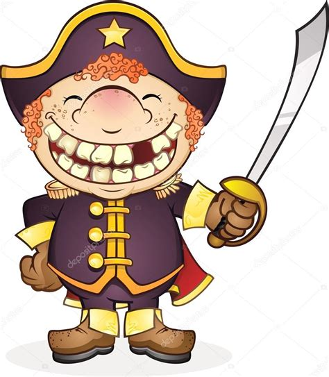Cartoon Boat Characters by Navy Boat Captain Cartoon Character Stock Vector