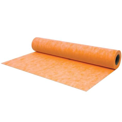 schluter kerdi 3 ft 3 in x 33 ft waterproofing membrane kerdi200 10m the home depot