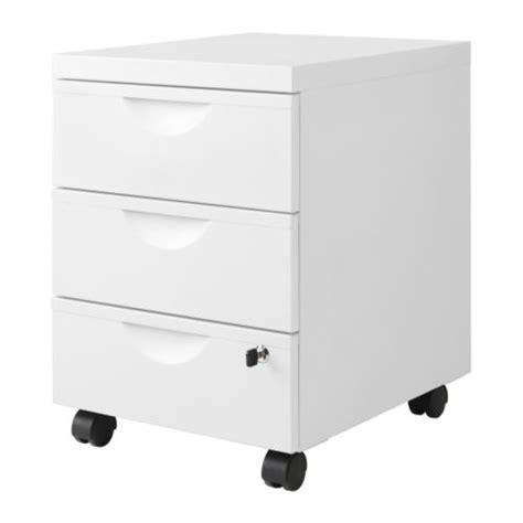erik caisson 3 tiroirs sur roulettes blanc ikea