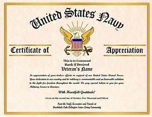 Military Veterans Appreciation Certificates