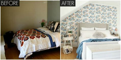 Small Floral Bedroom Makeover  Bright Bedroom Before And