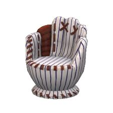 yankeys baseball supporter glove chair by joshv2145 the