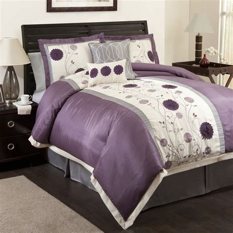 Lavender And Grey Bedding by Purple Comforter Sets Purple Bedroom Ideas